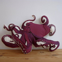 Plush Octopus Pillow by shannonbroder on Etsy