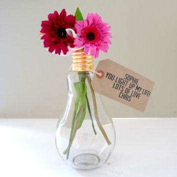 Light Of My Life Love Light Bulb Vase
