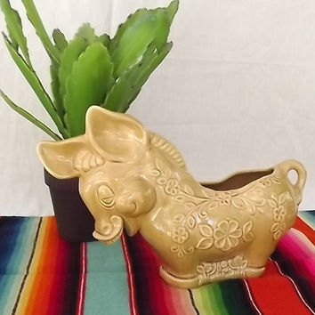 Adorable Large Ceramic Donkey/Burro Planter Vintage