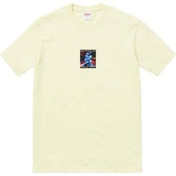 Supreme Cyber Tee - Pale Yellow