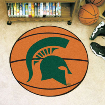 "Michigan State University Basketball Mat 26"" diameter"