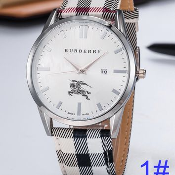 BURBERRY Watch Women's Men Classic Plaid print Watches B-PS-XSDZBSH White Plaid