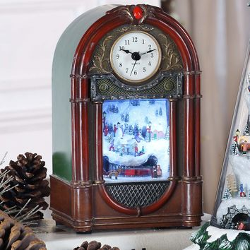 Vintage Christmas Clock Radio