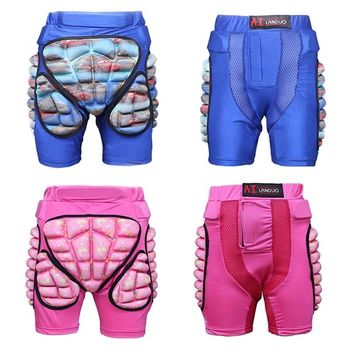 Kids Sports Skateboarding Skiing Snowboarding Shorts Protective Hip Padded For Roller Impact Protection Snow Motorcycle Pad Gear