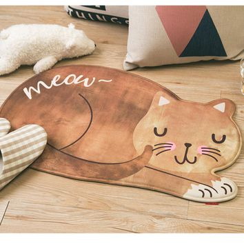 Printing Memory Foam Cartoon Cat Mat Doormats Area Non-slip Rug Kitchen Rugs Bathroom Floor Bedroom Living Room Entrance carpet