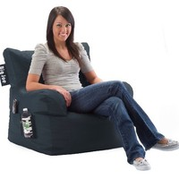 Comfort Research Big Joe Dorm Chair with Smart Max Fabric, Slate