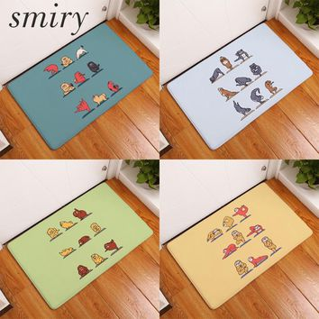 Autumn Fall welcome door mat doormat Smiry s outdoor entrance door cute cartoon funny yoga dog cats pattern rugs waterproof bedroom bedside foot pads decor AT_76_7