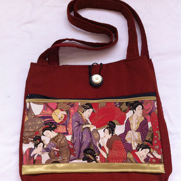 A Geisha's Party Handmade Tote Bag