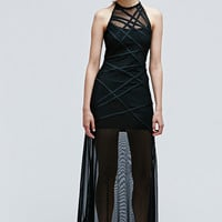 Vintage One-Of-A-Kind Maxi Evening Dress in Black - Urban Outfitters