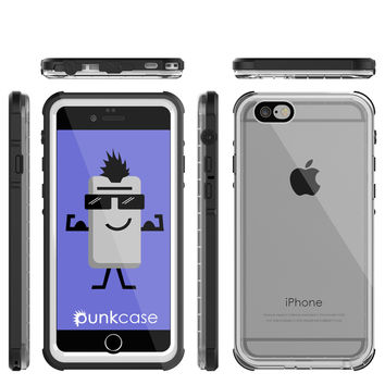 iPhone 6/6S Waterproof Case, PUNKcase CRYSTAL White W/ Attached Screen Protector  | Warranty