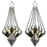 Eddie Borgo Horus Drop Earrings - Drop Earrings with Jade - ShopBAZAAR