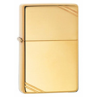 Zippo 270 Vintage Slashes High Polish Brass Lighter