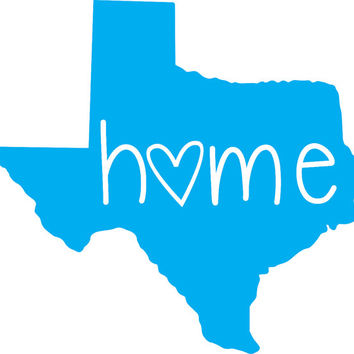 Texas Home Vinyl Sticker Decal ~Texas ~State