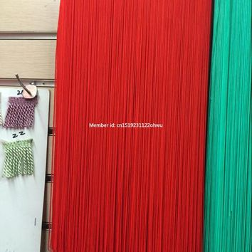 5 Yard/Lot 100CM red Long Polyester Lace Tassel Fringe Lace Trim Ribbon Sew Latin Dress Stage Garment Curtain DIY Accessories