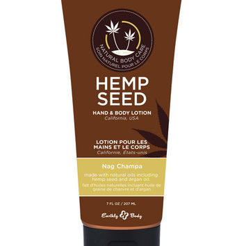 Earthly Body Velvet Lotion - 7 O Tube Nag Champa