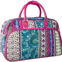 World Traveler Pink Patchwork 20-inch Carry On Fashion Travel Duffle Bag:Amazon:Shoes
