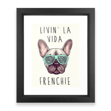 Society6 French Bulldog Livin Framed Print