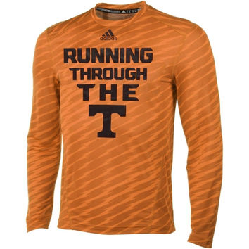 Tennessee Volunteers adidas Player Training Long Sleeve Performance T-Shirt – Tennessee Orange