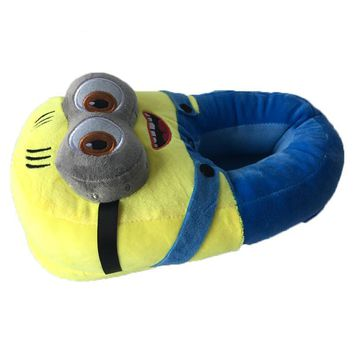 Minion Double Eyes Slippers