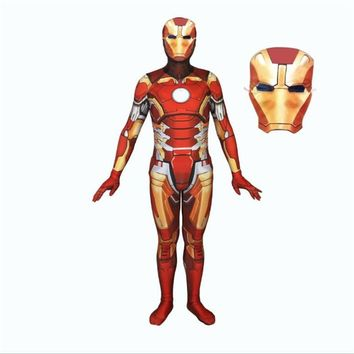 The Avengers Tony Stark Iron Man Cosplay Costume Halloween Party Adult Clothing Catsuit Jumpsuit High Quality