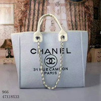 CHANEL Women Shopping Leather Handbag Tote Satchel Shoulder Bag