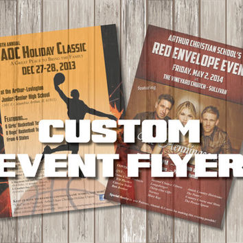 Custom Flyer Design - Event Poster - Custom Event Flyer Print - Graphic Design Print Poster