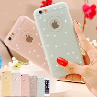 5S Fresh Lovely Silicon Case Bling Powder Matte Cover