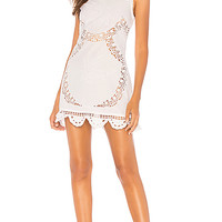 MAJORELLE Rosalina Mini Dress in White | REVOLVE