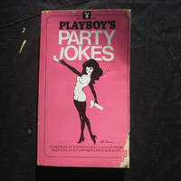 1980 1st Edition 4th Printing Playboy's Party Jokes Volume I Paperpack Pink Cover