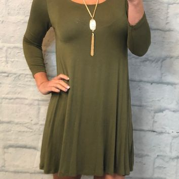 Down To a Tee Tunic: Olive