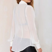 Nasty Gal Marianne Pussy Bow Blouse