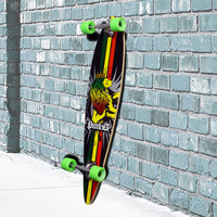 Rasta Pintail Longboard 40 inch from Punked - Complete