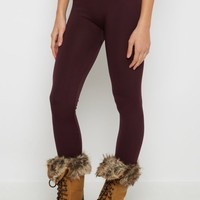 Plum Fleece Lined Legging | Leggings | rue21
