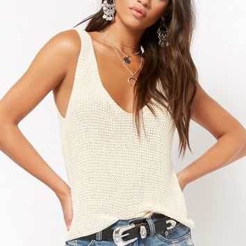 Open-Knit Tank Top