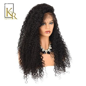 Cool 360 Lace Frontal Wig Curly Wig Human Hair Wigs Pre Plucked Brazilian Remy 150% Density Bleached Knots Full End King Rosa QueenAT_93_12