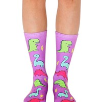 Dino Party Crew Socks