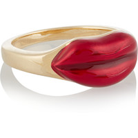 Alison Lou - 14-karat gold and enamel ring