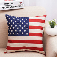 American Flag Pillow Home Gift