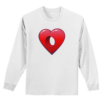 Hole Heartedly Broken Heart Adult Long Sleeve Shirt by
