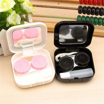 New Arrival Eyes Care Kit Holder Container Gift Cartoon Cute Lovers Beard Travel Glasses Contact Lenses Box Contact lens Case