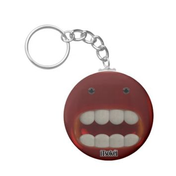 iTsokéi Red Jelly Monster Basic Button Keychain