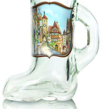 German Souvenir Shot Glass Beer Boot W/ Handle