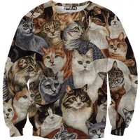 ☮♡ Cats on Cats on Cats Sweater ✞☆