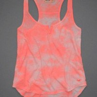 Sz L HOLLISTER by ABERCROMBIE & FITCH Orange Tie Dye TANK SHIRT NEW w TAGS !