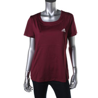 Adidas Womens Scoop Neck Short Sleeves Shirts & Tops