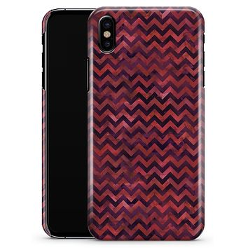 Wine Basic Watercolor Chevron Pattern - iPhone X Clipit Case