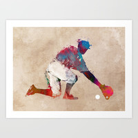 Baseball player 5 #baseball #sport Art Print by jbjart