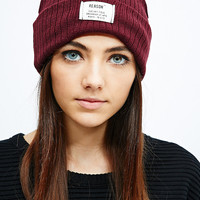 Reason Basic Beanie in Burgundy - Urban Outfitters