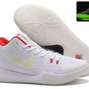 DCCKL8A Jacklish Glow In The Dark Nike Kyrie 3 Yeezy' Man's Basketball Shoes For Sale