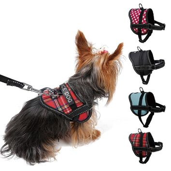 Adjustable Soft Breathable Dog Harness Reflective Pet Vest Rope Small Dog Chest Strap Leash Set Collar Leads Harness S M L